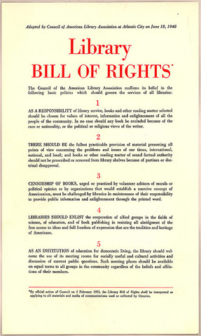 The bill of rights for Librarys !