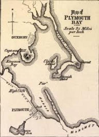 Sepratists settle in Plymoth bay
