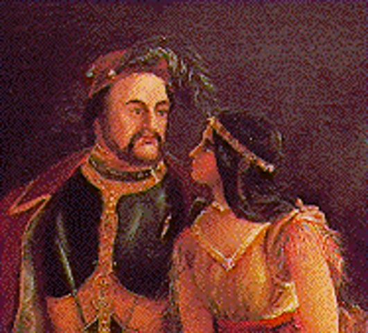 marriage of jonh Rolfe and Pochontas