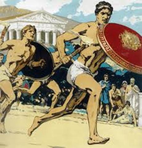 se celebra la primera olimpiada en Grecia
