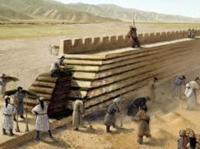 Construcción de la gran muralla de china