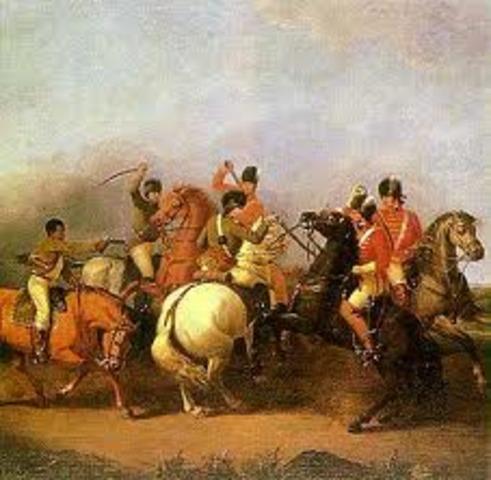 Aztecs attack Spanish.