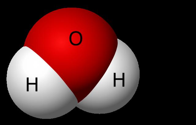 El tamaño real de las moléculas de agua