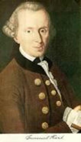 Emmanuel Kant (1724- 1804)