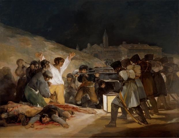 Propone al Consejo de Regencia pintar cuadros conmemorativos de la insurrección contra los franceses (2 y 3 de mayo)