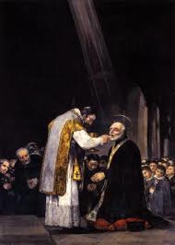 Pinta la Última comunión de San José de Calasanz