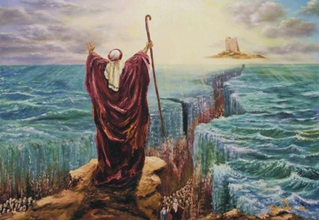Moses saves the Hebrews