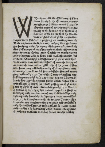 Caxton's First Printed Book