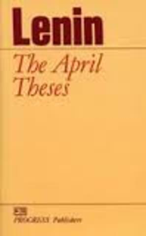 Lenin Issues his April Thesis