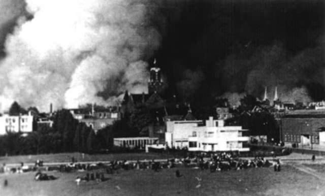 The Rotterdam Blitz brings an end to the Battle of Rotterdam.