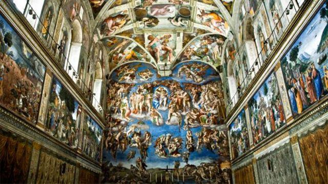 Miguel Angel pinta la capilla Sixtina
