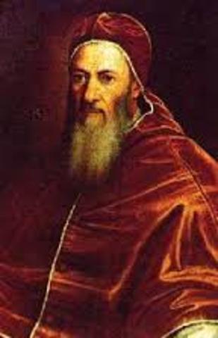 Xulio II pone la primera piedra de la iglesia de San Pedro en Roma