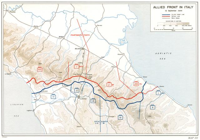 "The Allies reach the ""Gothic Line"""