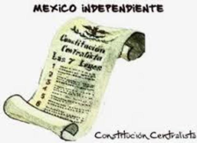 Las Siete Leyes Constitucionales