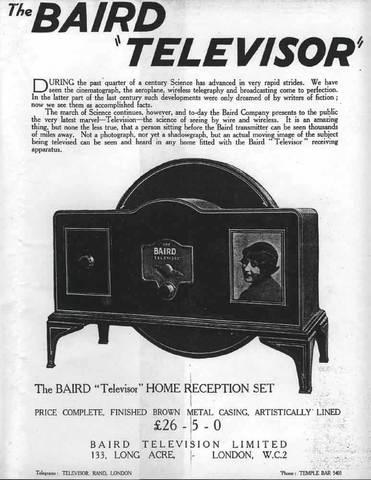 Televisión modelo Baird