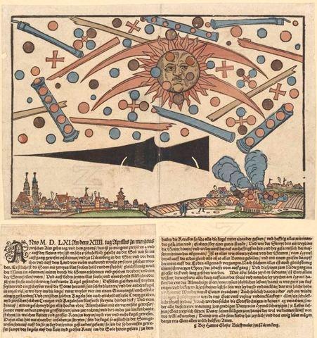 Fenómeno celeste en Núremberg de 1561