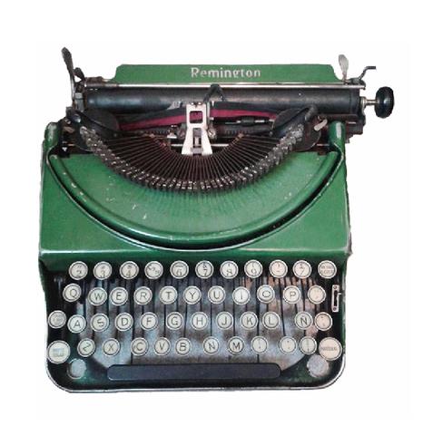 Máquina de escribir análoga.
