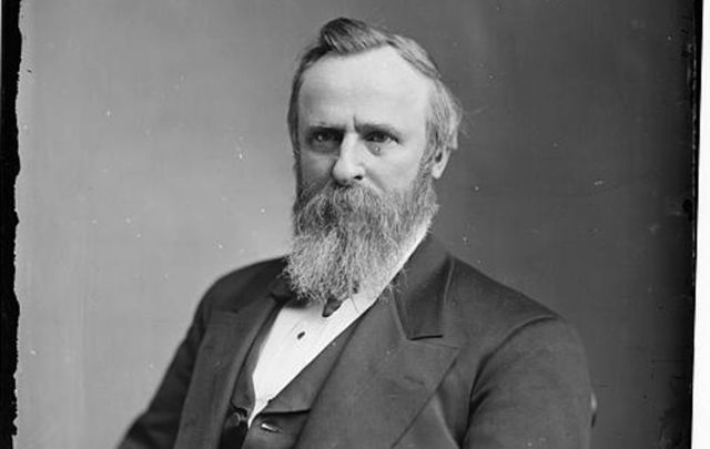 Rutherford B. Hayes is inaugurated as the 19th president