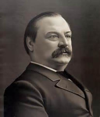 Grover Cleveland is inaugurated as the 22nd president