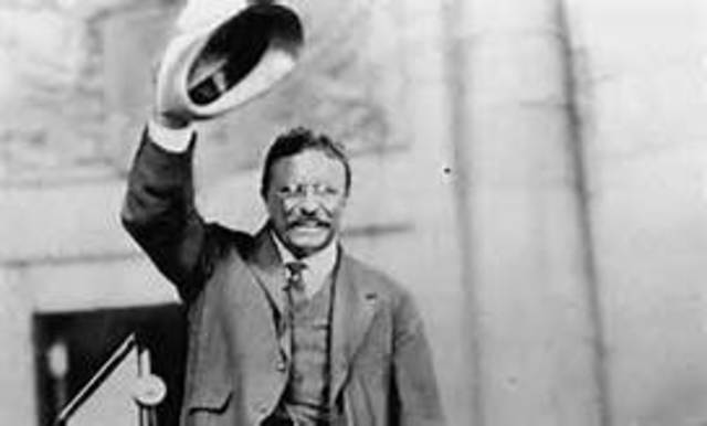 Theodore Roosevelt takes office