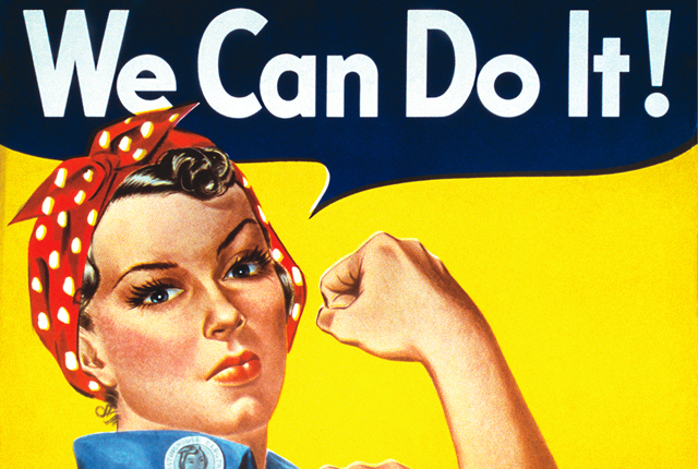"""""""We Can Do It"""" Poster Bolsters Rosie the Riveter"""