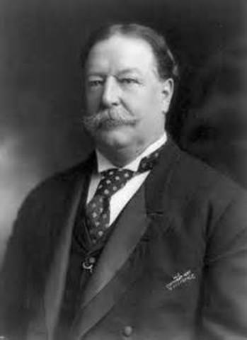 William Howard Taft is inaugurated as the 27th president
