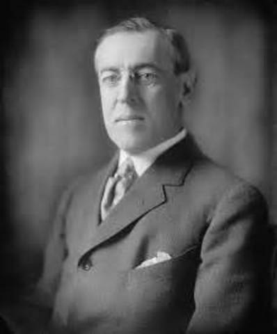 Woodrow Wilson is inaugurated as the 28th president