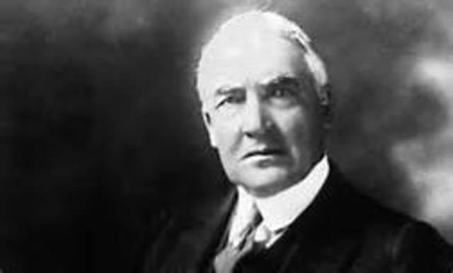 Warren G. Harding is inaugurated as the 29th president