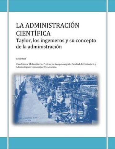 """Libro De Taylor """"Principios de la administración científica"""""""