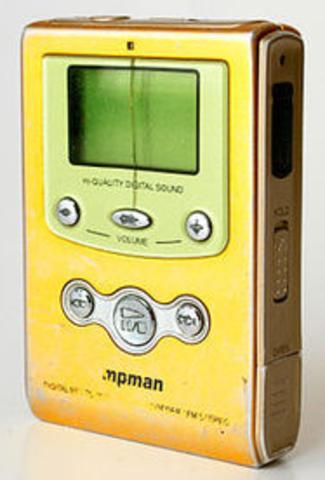 """Primer reproductor MP3 portátil """"MPMAN F10"""""""
