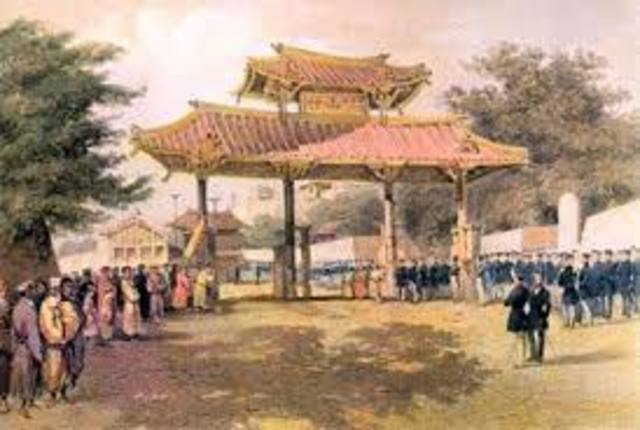 Commodore Perry opens Japan-economic
