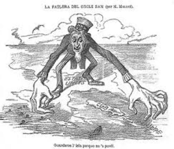 Spanish-American War - US acquires Philippines, Cuba, Guam, & Puerto Rico-political