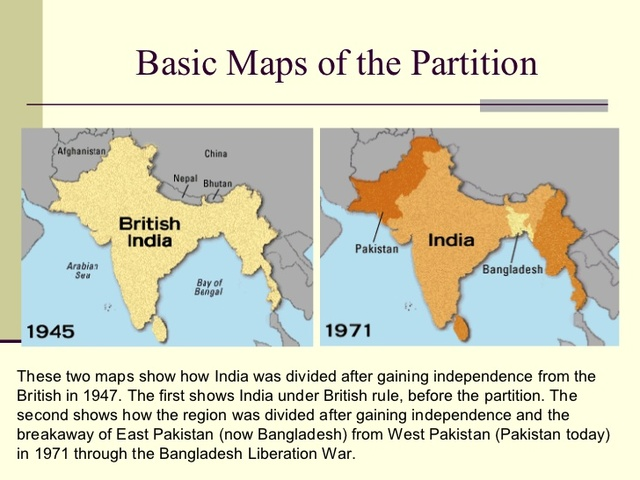 Independence & partition of India-near geography