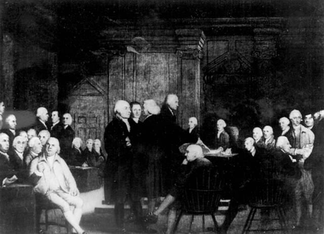 First Continetial Congress Meets