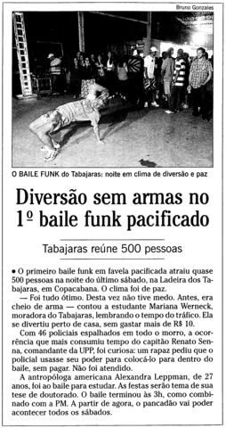 Primeiro baile funk pós pacificação na Ladeira dos Tabajaras