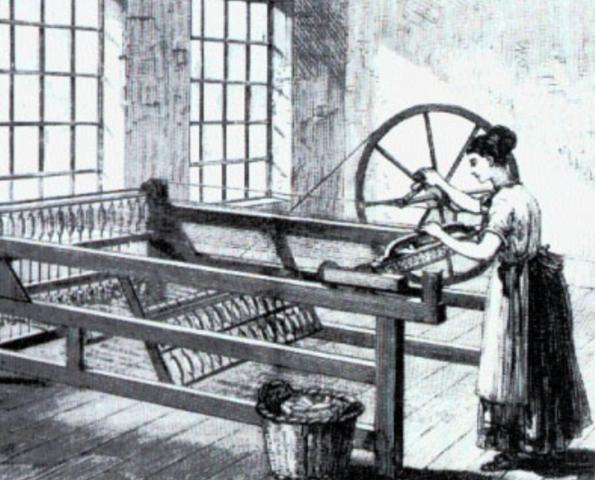 """Entwicklung der """"Spinning Jenny"""""""