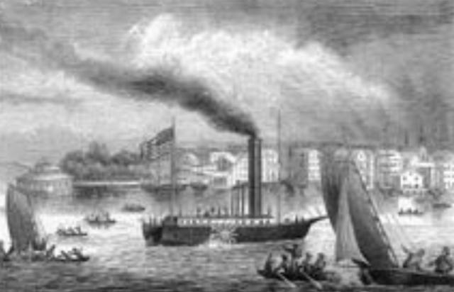 1. funktionstüchtiges Dampfschiff