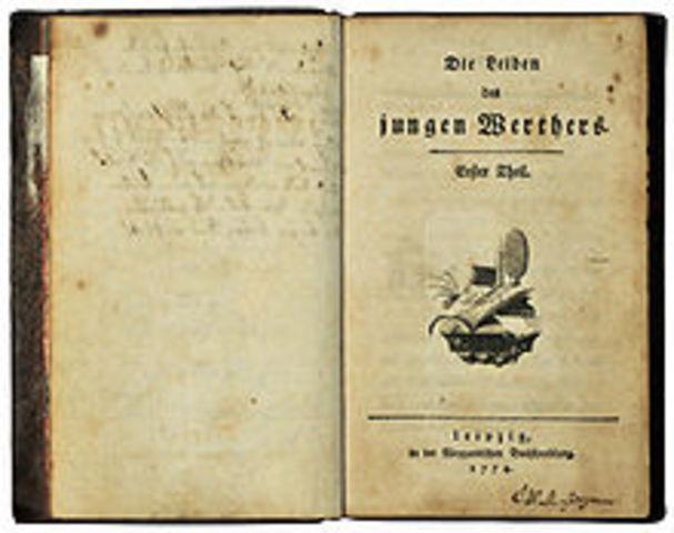 Publicação dos contos do jovem Werther