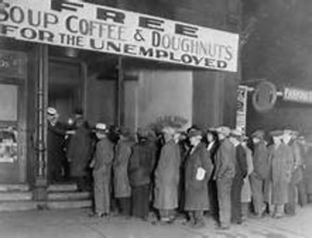 Stock market crashes and begins the Great Depression