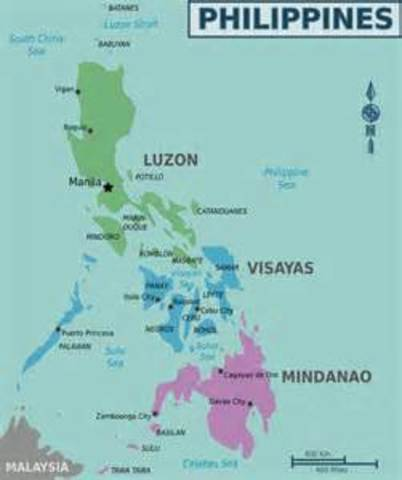 The Philippines, which had been ceded to the U.S. becomes an independent republic