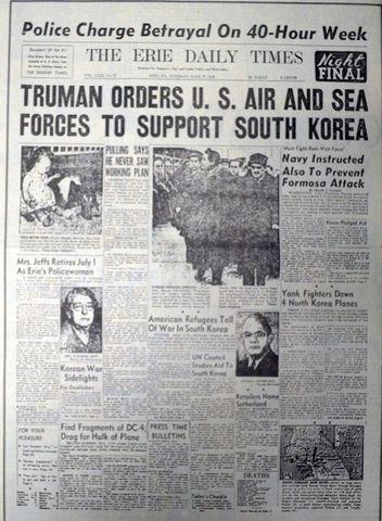 The United States join the Korean War-Korea