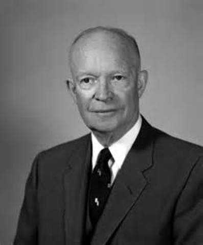 Dwight Eisenhower is inaugurated as the 34th president