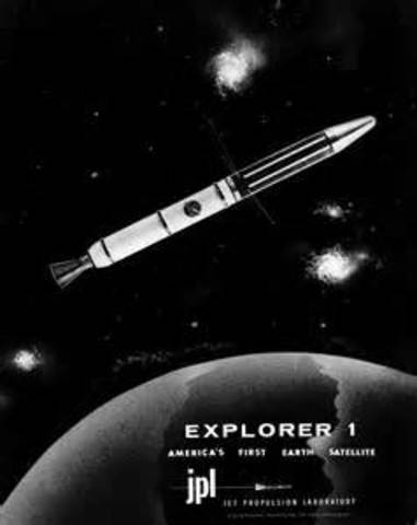Explorer I, first American satellite, is launched