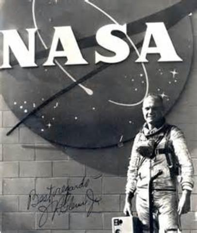 Lt. Col. John Glenn becomes first U.S. astronaut to orbit Earth