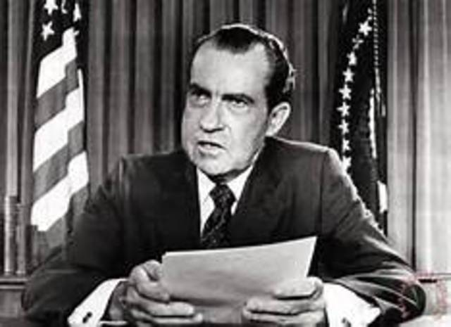 Richard Nixon is inaugurated as the 37th president