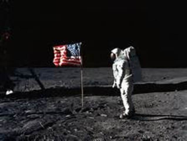 Astronauts Neil Armstrong and Edwin Aldrin, Jr., become the first men to land on the Moon