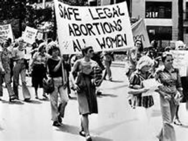Roe v. Wade: Landmark Supreme Court decision legalizes abortion in first trimester of pregnancy
