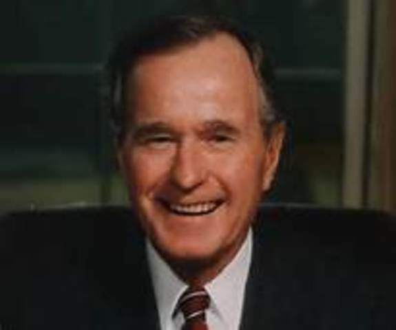 George H. W. Bush is inaugurated as the 41st president