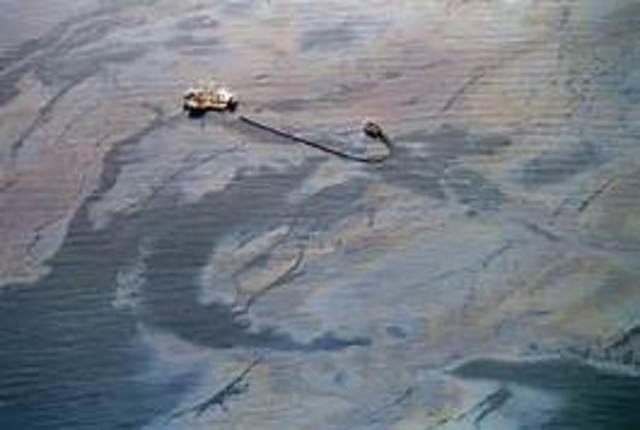 Oil tanker Exxon Valdez spilling more than 10 million gallons of oil
