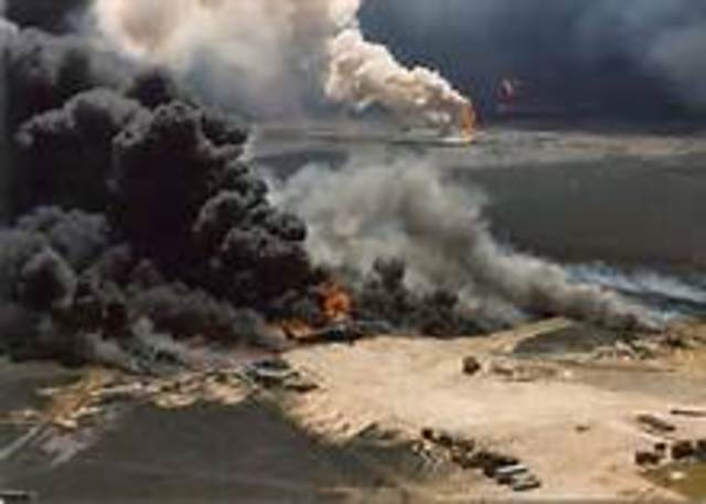 Iraqi troops invade Kuwait, leading to the Persian Gulf War